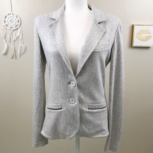 Tart | Double Button Gray White Geometric Blazer S